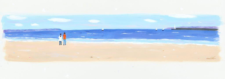 柔らかな海峡 カバー装画