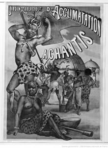 「順化園」で「展示」された、いちアフリカ民族(©BNF)